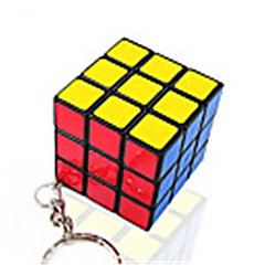 Rubik's Cube Cubo Macio de Velocidade Cubos Mágicos Porta-Chaves Etiqueta lisa Plásticos