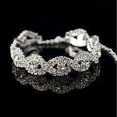Femme Bracelets de tennis Fleur Perle Grise Forme Ovale Bijoux PourMariage Soirée Autre Fiançailles Quotidien Cérémonie Nouvelle Année