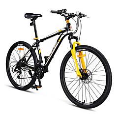 マウンテンバイク サイクリング 24スピード 24 inch シマノEF-51 ダブルディスクブレーキ サスペンションフォーク スチールフレーム アンチスリップ PVC スチール
