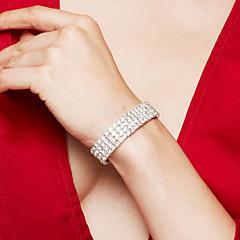Damen Armband Tennis Armbänder Strass Luxus-Schmuck Elegant Modeschmuck Modisch Brautkleidung Strass versilbert Diamantimitate