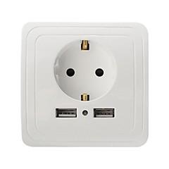 USB 충전기 2 포트 데스크 충전기 EU 플러그 충전 어댑터
