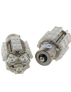 2 x 18 Multi-functional LED Light Bulbs - Brake Light - Tail Light - Turn Light (S25-BA15S-18-W)