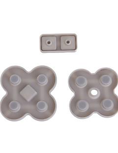 NDS 라이트를위한 대체 전도성 패드 버튼 (3 피스 세트)