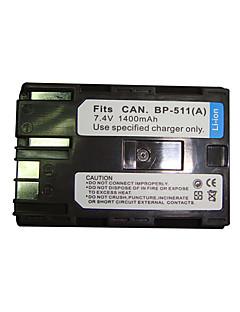 vervangende camcorder batterij bp511/bp512 voor canon eos 10d/canon zr40 (09370111)