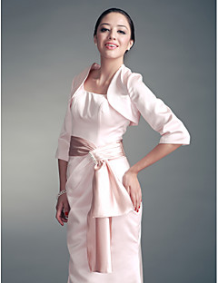 3/ 4-length Sleeves Satin Special Occasion Evening Jacket/ Wedding Wrap Bolero Shrug