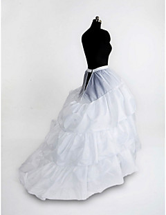 Slips Chapel Train Floor-length 3 Nylon Tulle Netting White