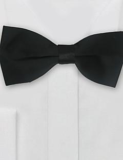 עניבת פרפר שחורה צבוע סאטן חתן אבזרים ללבוש