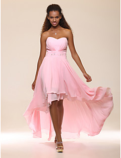 TS Couture® Prom / Formal Evening Dress - Open Back Plus Size / Petite A-line / Princess Strapless / Sweetheart Floor-length / Asymmetrical Chiffon