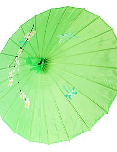 grønn silke parasoll