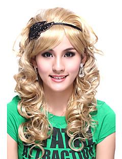 sin tapa superior Kanekalon grado de calidad bastante princesa estilo peluca rizada larga