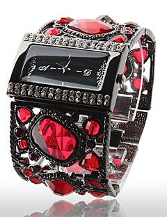 Relógio de Mulher com Decoração Vermelha - Preto