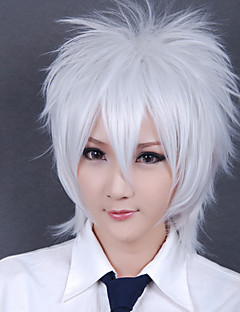 Cosplay Wigs Gintama Gintoki Sakata White Short Anime Cosplay Wigs 30 CM Heat Resistant Fiber Male