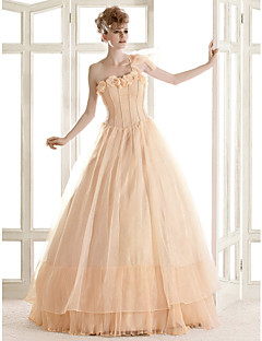 lanting는 몸집이 작은 A 라인 / 공주 신부 / 플러스 웨딩 드레스 바닥 길이를 한 어깨 크기