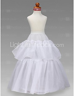 Flower Girl Taffeta Ball Gown 2 Tier Floor-length Slip Style/ Wedding Petticoats