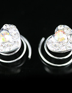 2 Pieces Gorgeous Rhinestones Bridal Pins Evening Headpieces