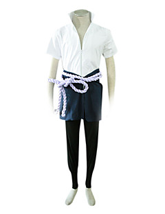 Cosplay Costume Shippden Naruto Sasuke Uchiha with Zipper