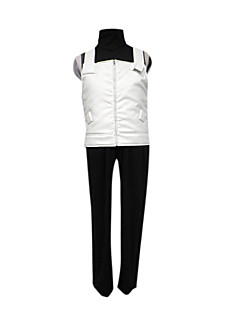 Inspired by Naruto Hatake Kakashi Anime Cosplay Costumes Cosplay Suits Patchwork White / Black SleevelessVest / T-shirt / Pants / Sleeves