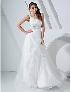 TS Couture® Prom / Military Ball / Formal Evening Dress - White Plus Sizes / Petite A-line / Princess One Shoulder Floor-length Organza