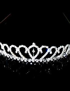 magnifiques cristaux clairs mariée diadème