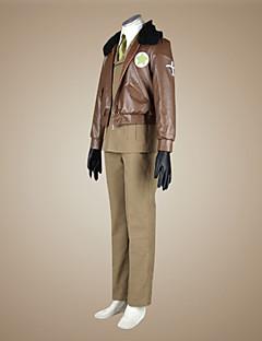 Inspired by Hetalia America Alfred F Jones Anime Cosplay Costumes Cosplay Suits Solid Brown Long SleeveCloak / Coat / Shirt / Pants / Tie