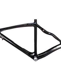 700C High Quality Full Carbon Feather Light Snake Shaped Diamond Road Bike Frame Natural Color