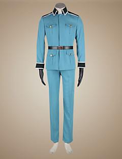 Inspired by Hetalia Germany Ludwig Beillschmidt Anime Cosplay Costumes Cosplay Suits Solid Blue Long Sleeve Coat / Pants / Gloves / Belt