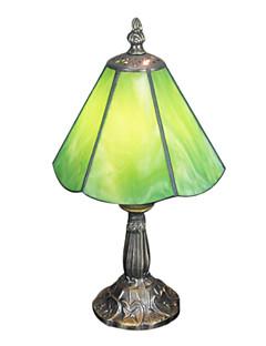 1 açık yeşil ile Tiffany masa lambası