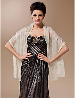 100% Handmade Sheer Silk Evening/Wedding Shawl/Wrap