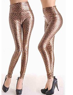 Women Metallic/PU Legging , Faux Leather Opaque