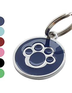 Kutyák Címkék Alkalmi Lábnyom / Paw Piros Fekete Kék Rózsa Rozsamentes acél