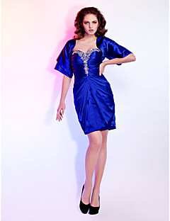 Cocktail Party/Wedding Party Dress - Royal Blue Plus Sizes Sheath/Column Sweetheart/Strapless Short/Mini Stretch Satin