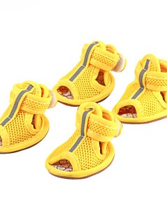 Dog Shoes & Boots Casual/Daily Spring/Fall Solid Red / Yellow / Blue / Pink PU Leather