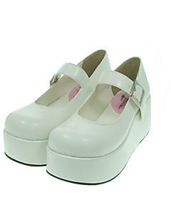 Scarpe Lolita Classica e Tradizionale Lolita Plateau Scarpe Tinta unita 7 CM Bianco Per Da donnaSimilpelle/Costumi in similcuoio di