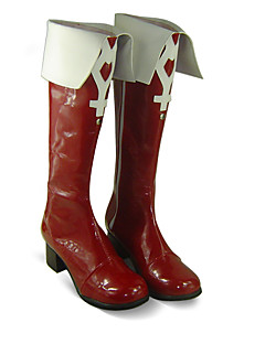 Cosplay boty Puella Magi Madoka Magica Kyoko Sakura Anime Cosplay obuv Biały / Czerwony PU kůže Dámský