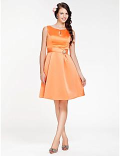 Vestito da damigella - Arancione Trapezio/Stile Principessa Tondo Cocktail Raso Taglie grandi