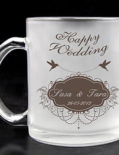 személyre matt üveg - boldog esküvő