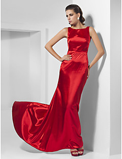Formal Evening/Prom Dress - Ruby Plus Sizes A-line/Princess Bateau Sweep/Brush Train Charmeuse
