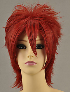 Cosplay Wigs Cosplay Ushiromiya Maria Red Short Anime/ Video Games Cosplay Wigs 32 CM Heat Resistant Fiber Female