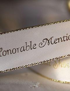 gepersonaliseerde goud bereik bruiloft decoratie lint - 100 meter per rol (meer kleuren, meer breedte)