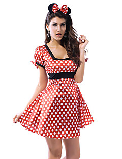 Sexy Mouse Girl Red Dots Women's Halloween Costume(2 Pieces)