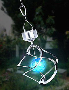 Solar LED Colour Changing Saturn Wind Spinner Hanging Spiral Light