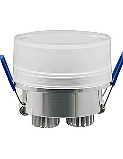 3w 240 270lm 3000 - 3500k 따뜻한 하얀 빛 원통형 크리스탈 LED 천장 램프 (110-240V)