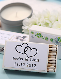 Karton Wedding Decorations-12piece / Set Gepersonaliseerd Lucifers niet inbegrepen.