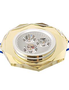 3W Plafonniers Encastrée Moderne 3 LED Haute Puissance 315 lm Blanc Chaud AC 100-240 V
