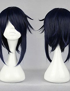 Cosplay Wigs K Reishi Munakata Black Short Anime Cosplay Wigs 40 CM Heat Resistant Fiber Male
