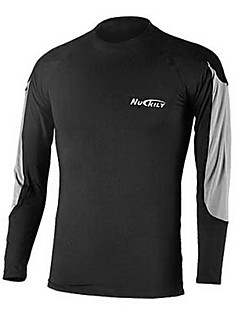NUCKILY® Cycling Base Layer Men's Long Sleeve Bike Breathable / Thermal / Warm / Quick Dry / Front Zipper / Wearable Underwear / Tops100%