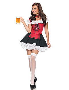 Fancy Red And Black Beer Girl Halloween Costume(2 Pieces)