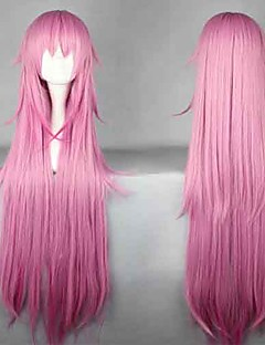 Cosplay Wigs K Neko Pink Long Anime Cosplay Wigs 110 CM Heat Resistant Fiber Female