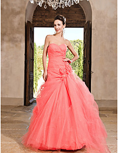 Prom / Formal Evening / Quinceanera / Sweet 16 Dress - Watermelon Plus Sizes / Petite Princess / A-line / Ball Gown Sweetheart / Strapless