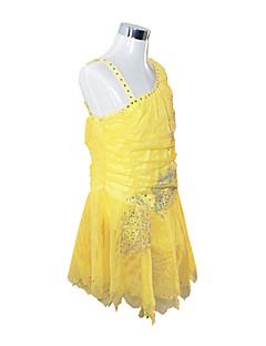Girl's Figure Skating Dress (Yellow)